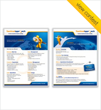 2 sided print brochure for franchise show